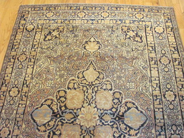 25047 Antique Persian Kirman Lavar rug  4,2 x 6,6-1