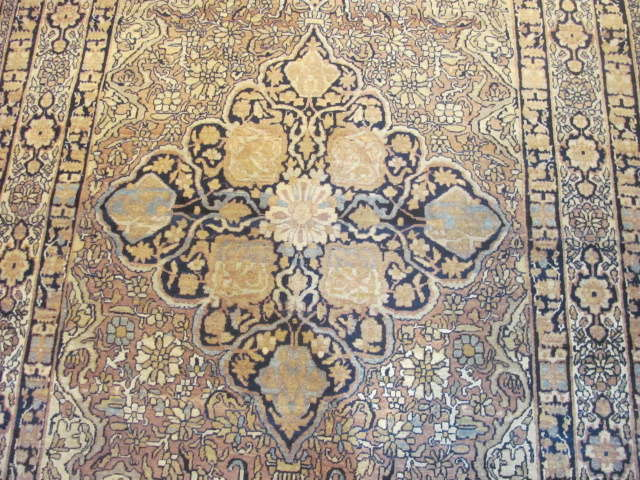 25047 Antique Persian Kirman Lavar rug 4,2 x 6,6-2