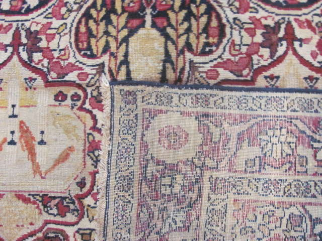 25048 Antique Persian Kirman Lavar rug 4 x 7-2