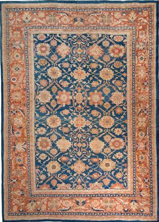 25049 Antique Persian Sulatanabad carpet 13,5 x 14,9