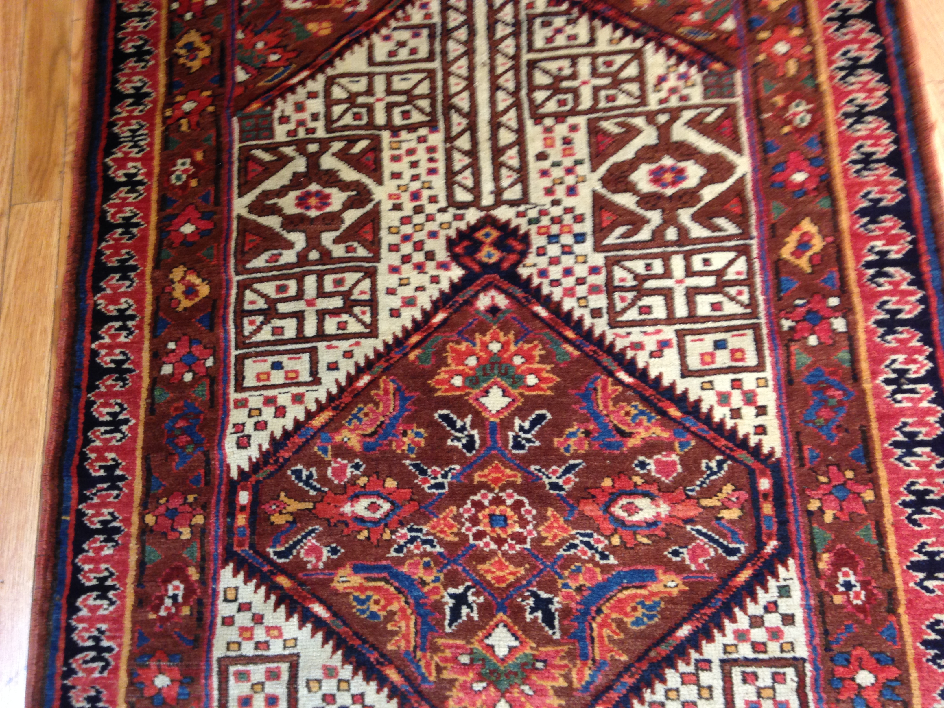 25051 Antique Persian Bakshaish runner 2,10 x 17,3 -1