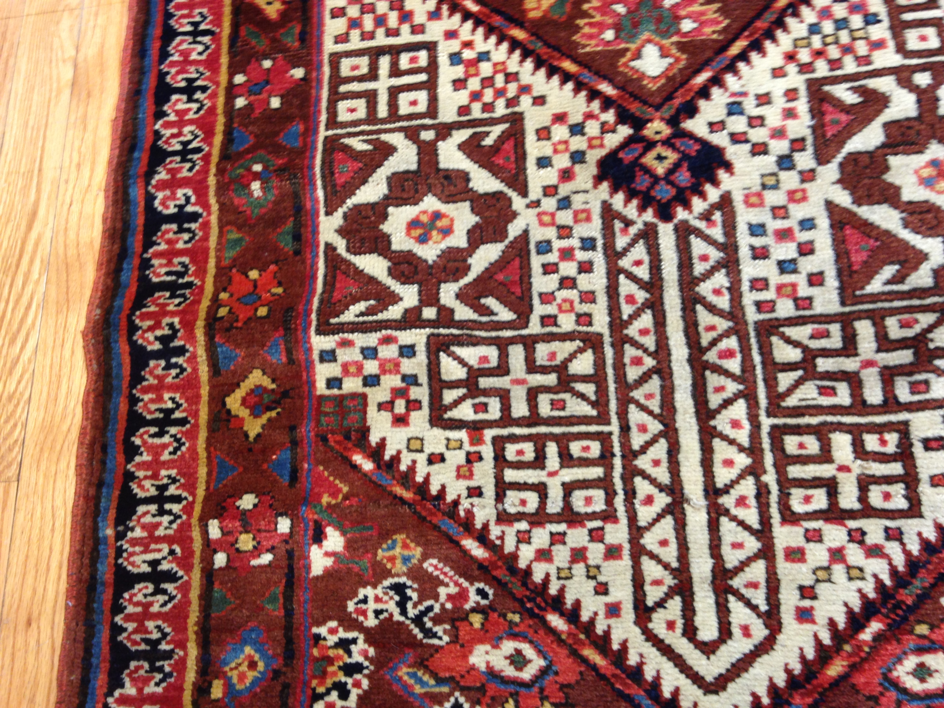 25051 Antique Persian Bakshaish runner 2,10 x 17,3 -2