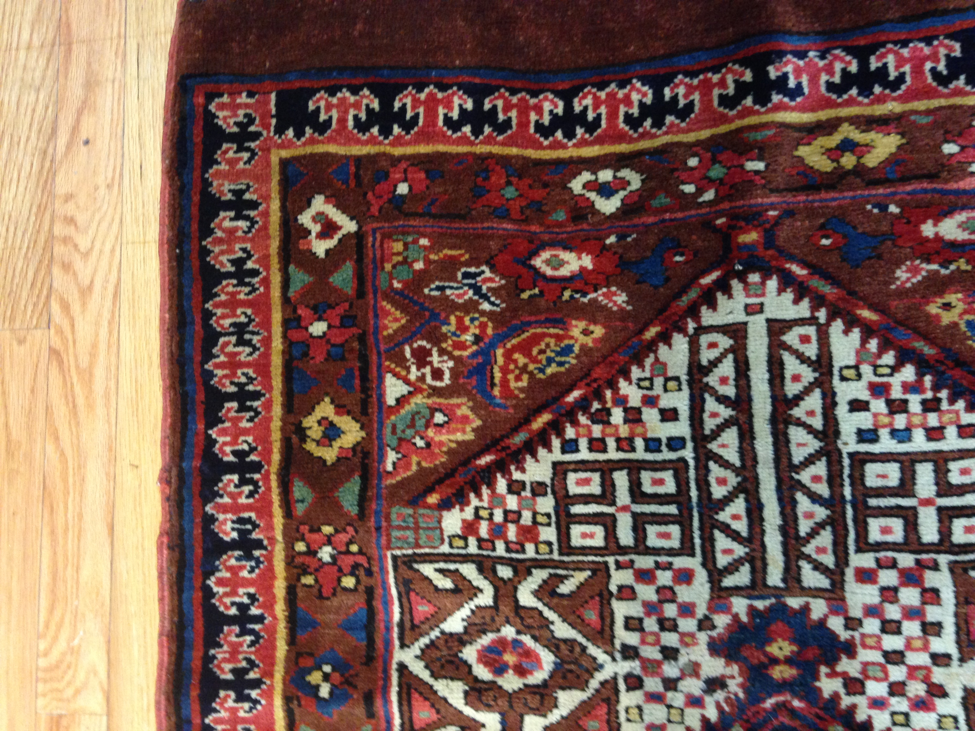 25051 Antique Persian Bakshaish runner 2,10 x 17,3 -3