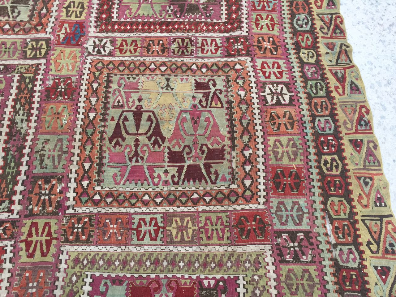 13125 Antique Anatolian kilim rug (2)