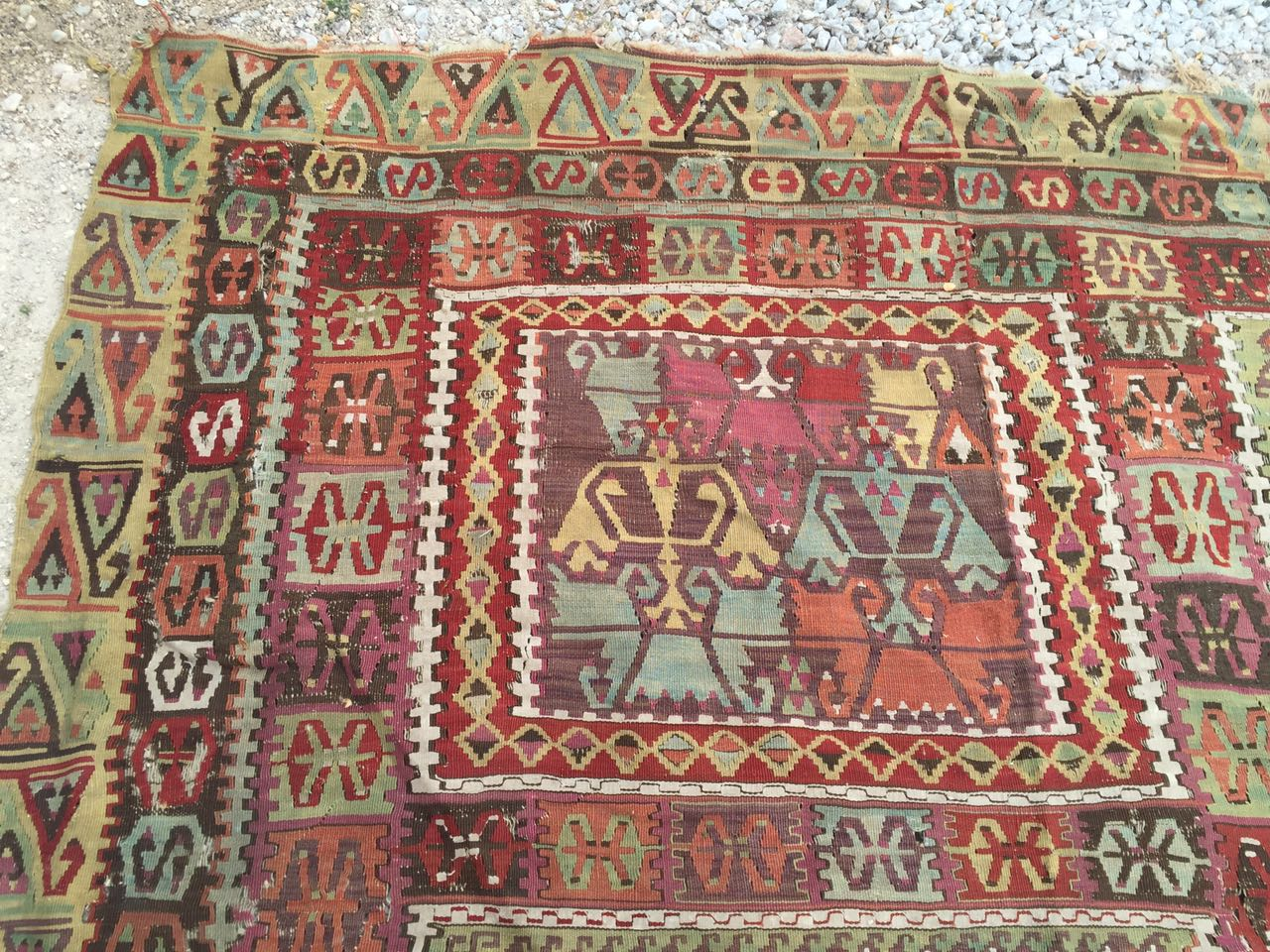 13125 Antique Anatolian kilim rug (7)