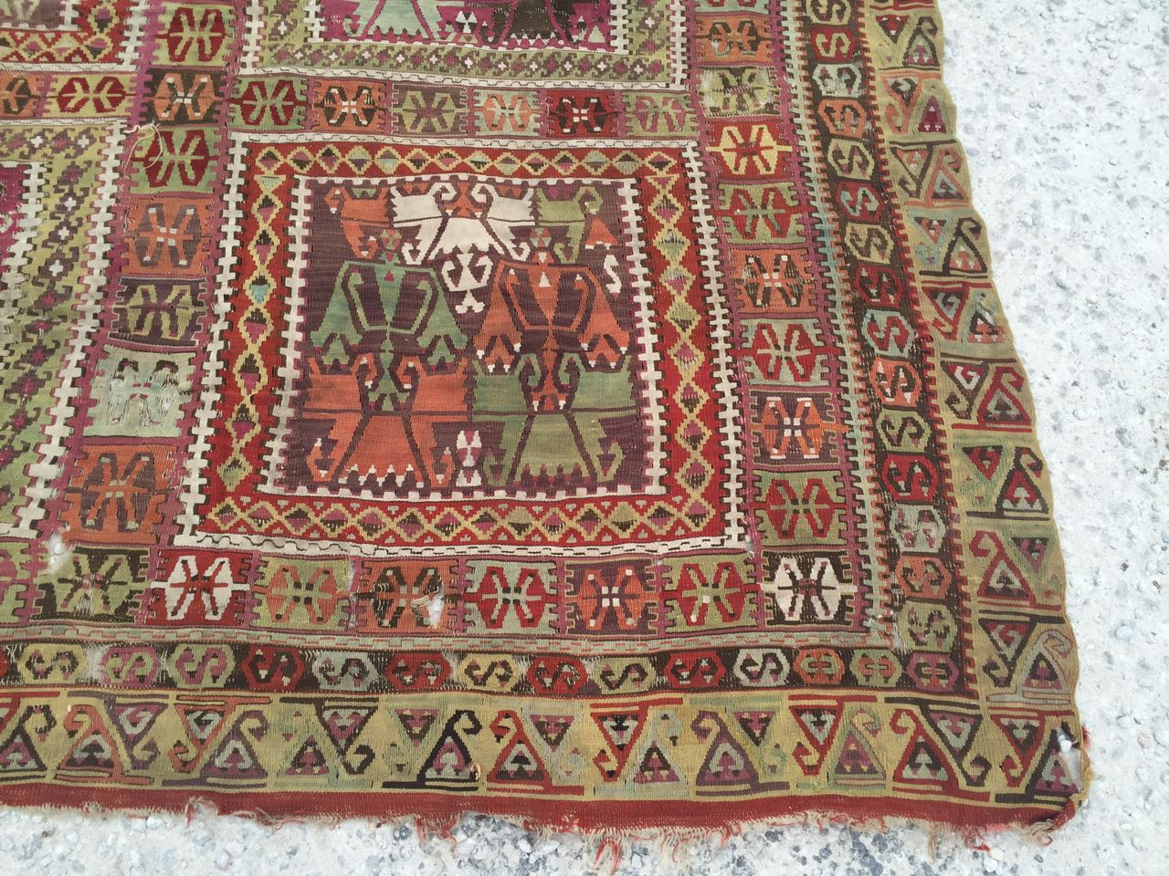 13125 Antique Anatolian kilim rug (9)