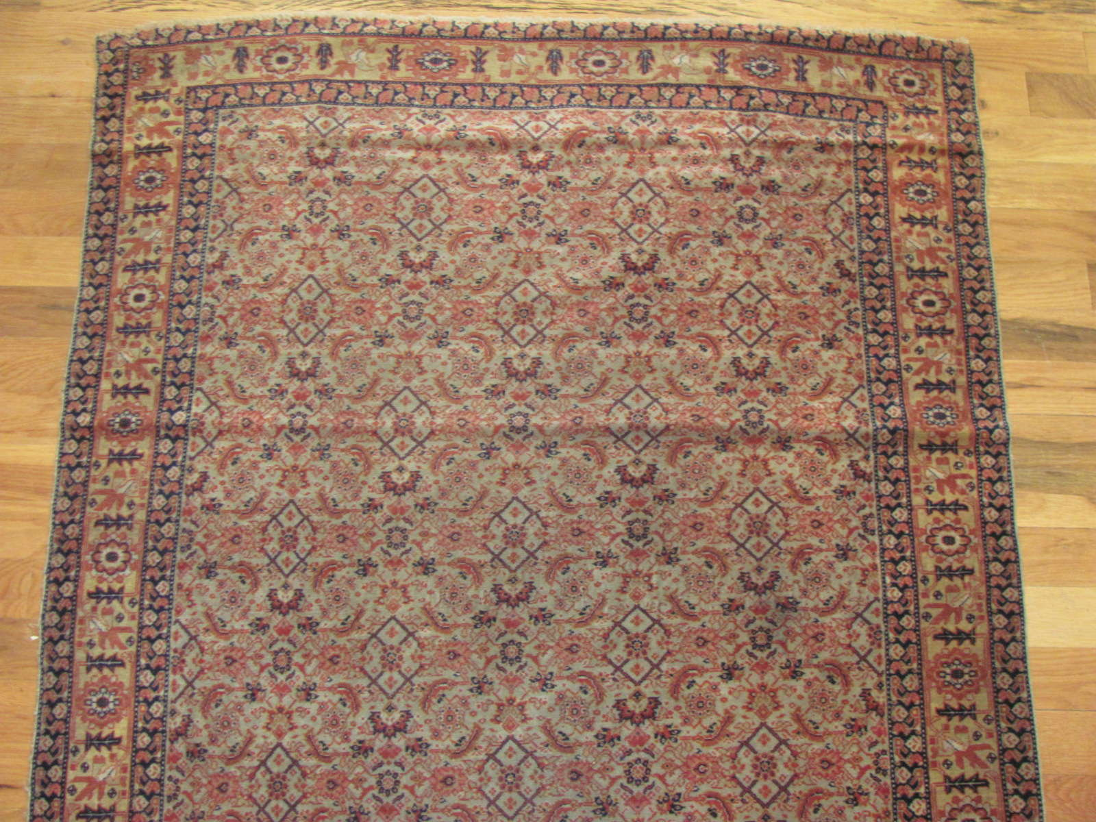 24399 Antique Persian Senneh hall runner 3,1x12,10-1
