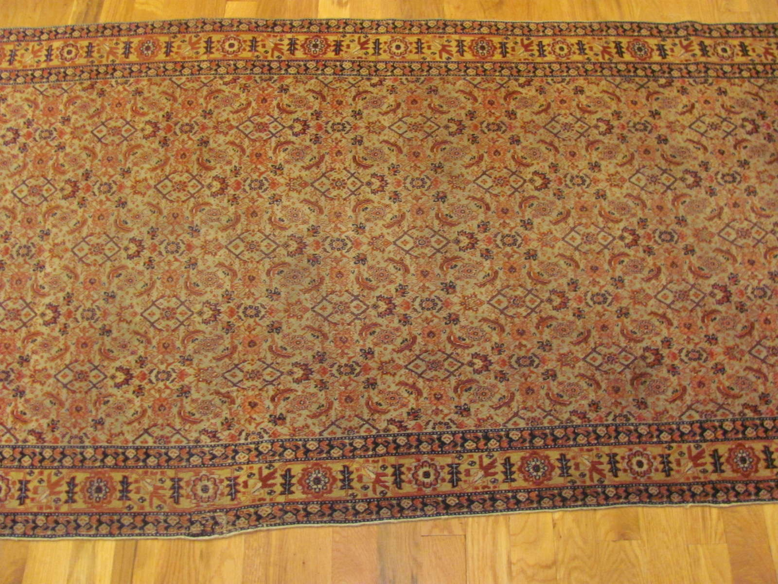 24399 Antique Persian Senneh hall runner 3,1x12,10-2