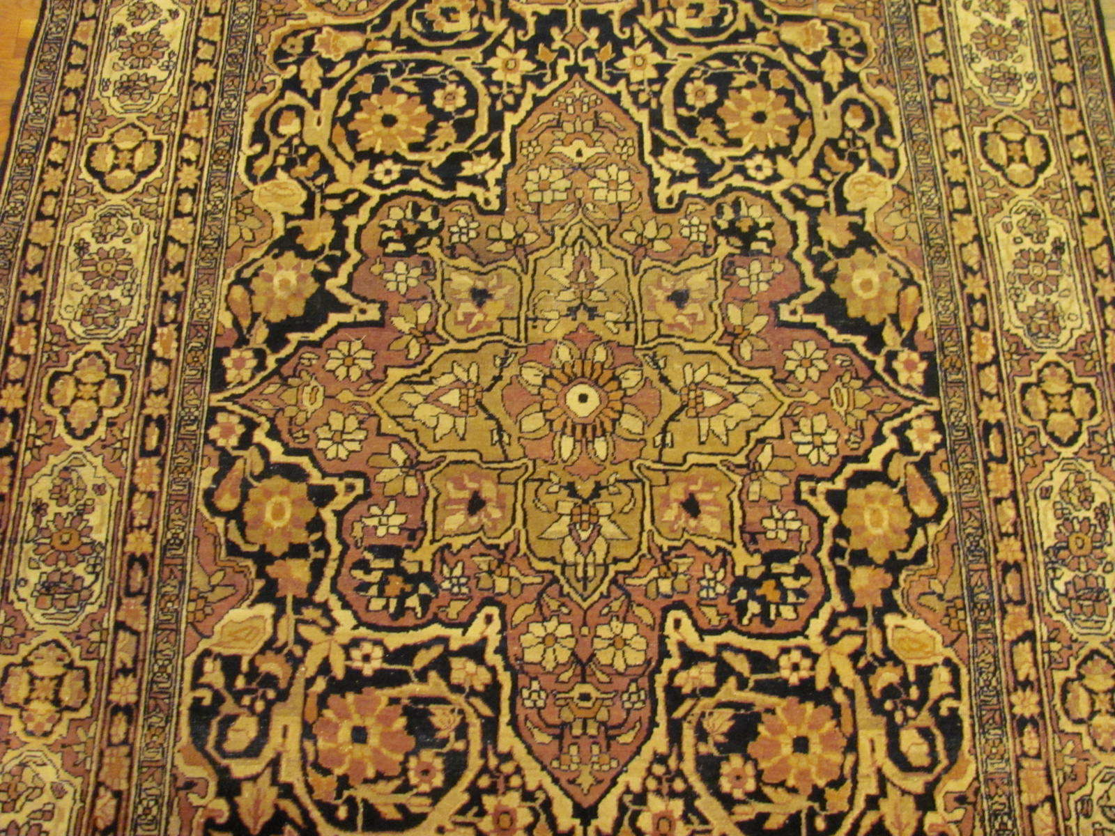 25056 antique Persian Kirman Lavar rug 4,4x6,7-2