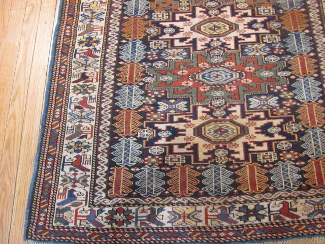 25065 Antique Caucasus Kuba rug 3,3 x 5-1