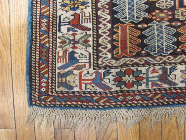 25065 Antique Caucasus Kuba rug 3,3 x 5-2