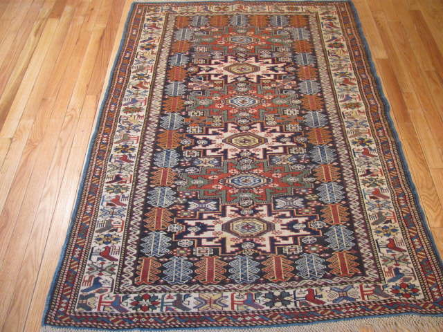 25065 Antique Caucasus Kuba rug 3,3 x 5