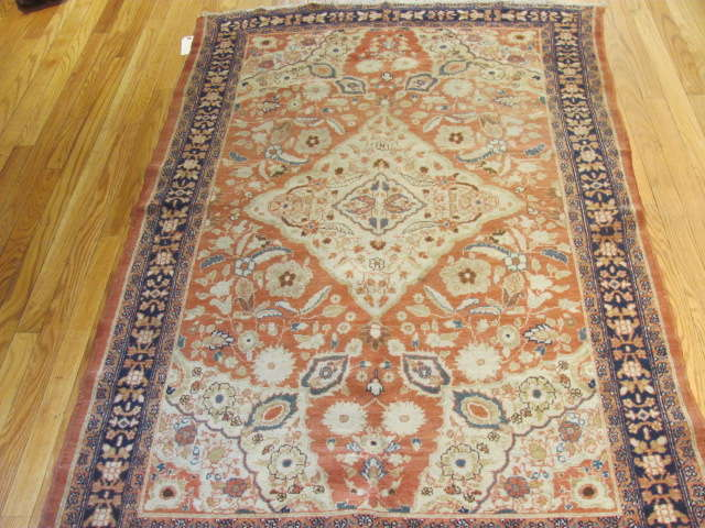 25071 antique Persian Malayer Mishan rug 3,9 x 5,9-1