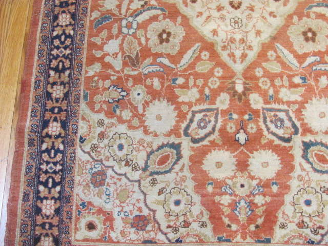 25071 antique Persian Malayer Mishan rug 3,9 x 5,9-2