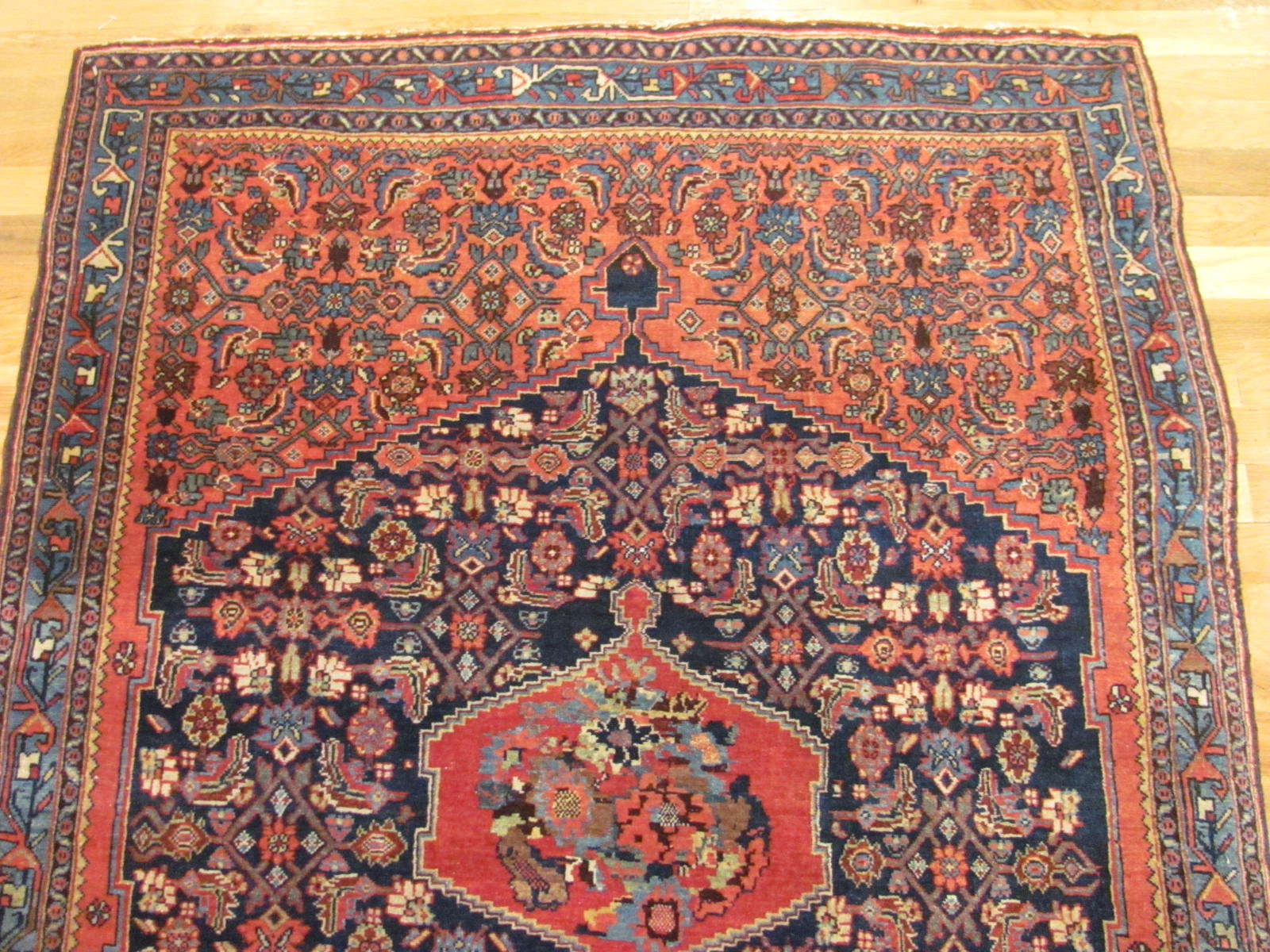 25091 antique persian bidjar rug 3,10x5,5-1