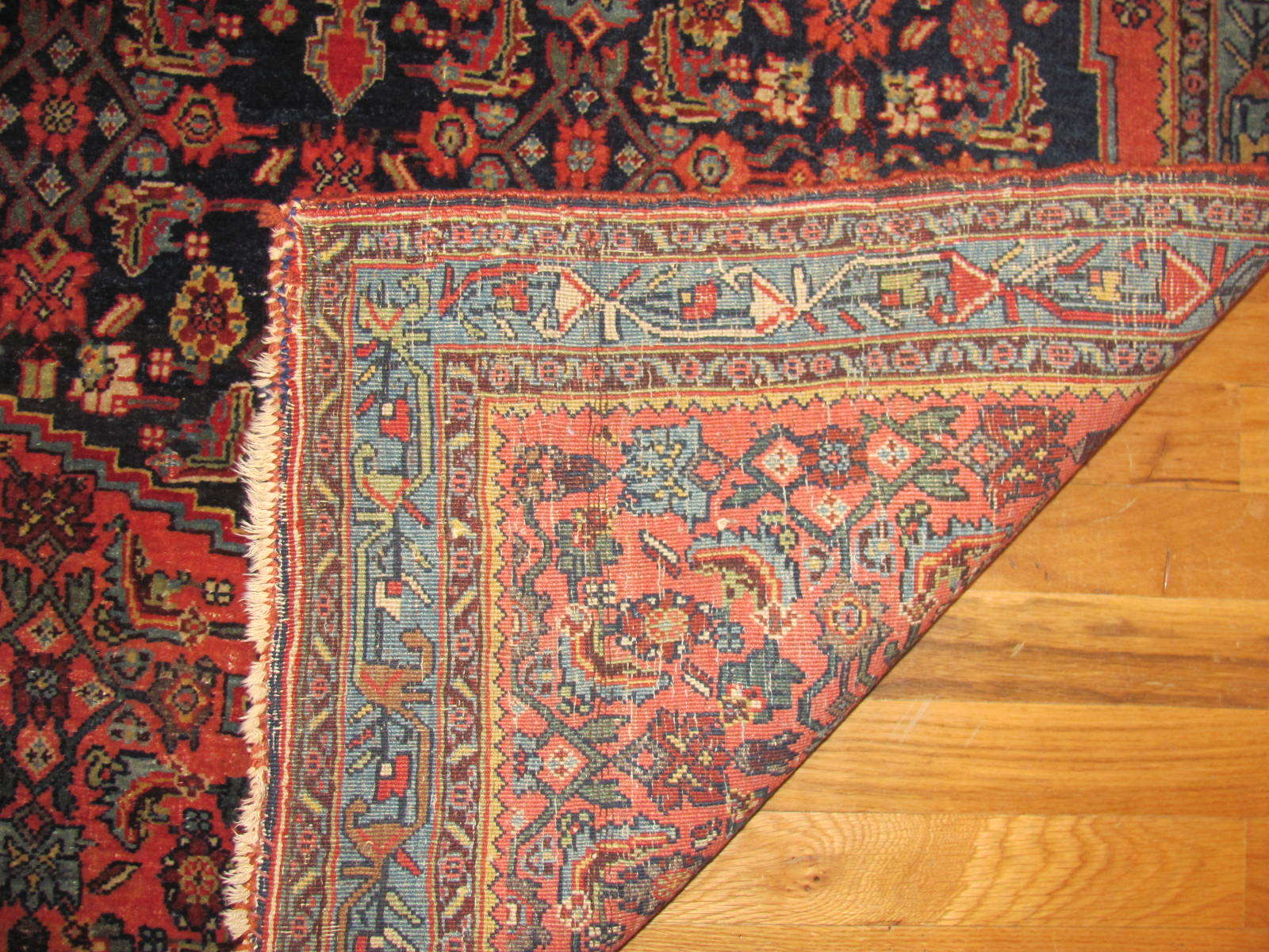 25091 antique persian bidjar rug 3,10x5,5-2