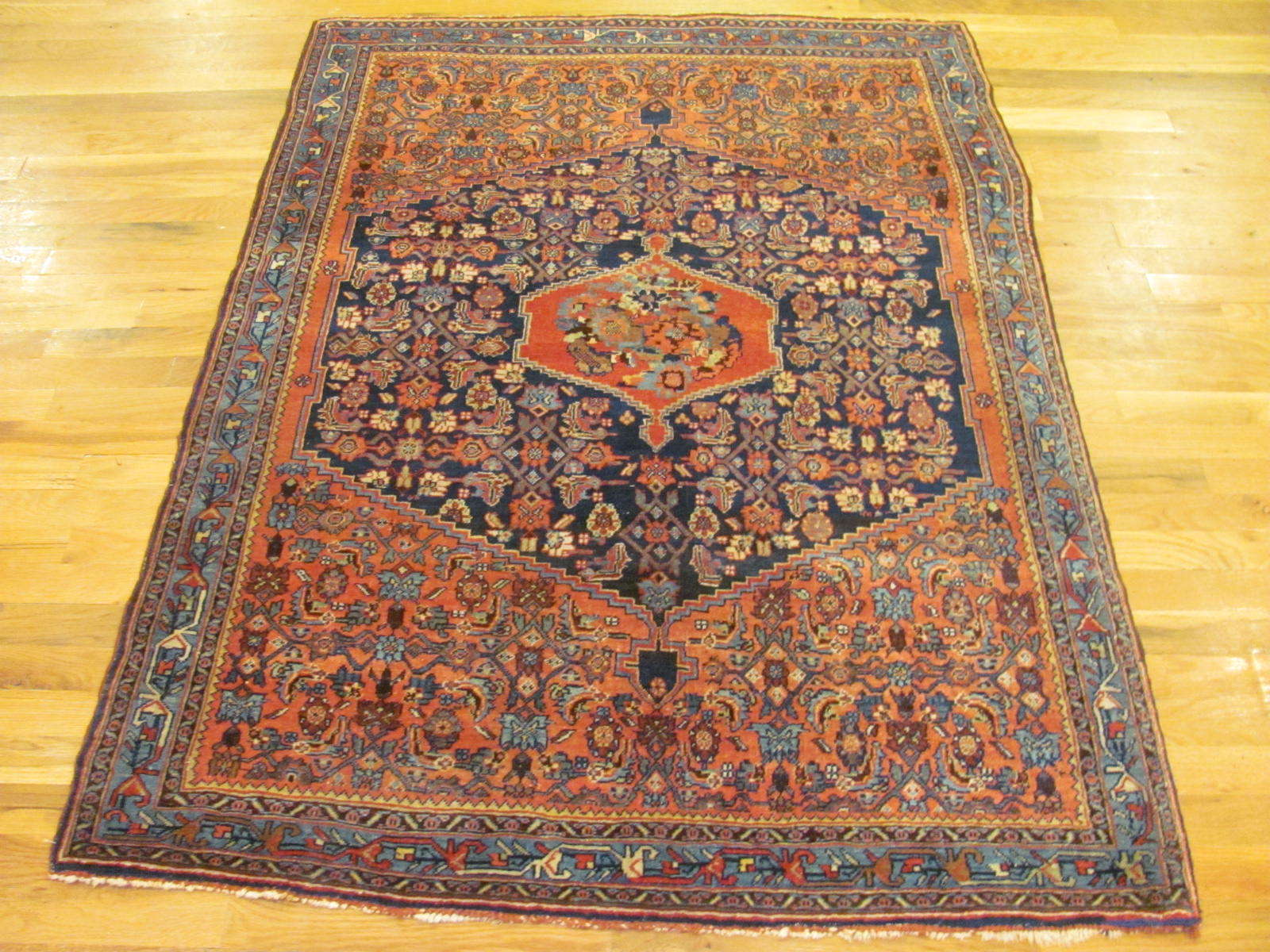25091 antique persian bidjar rug 3,10x5,5