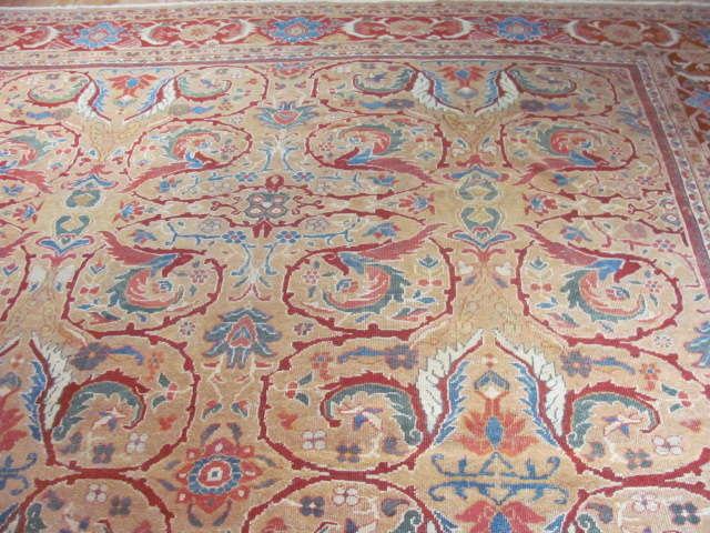 25095 antique persian mahal rug 10,3 x 13,3-1