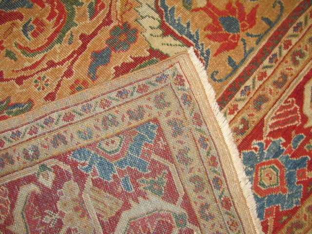 25095 antique persian mahal rug 10,3 x 13,3-3
