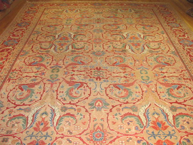 25095 antique persian mahal rug 10,3 x 13,3