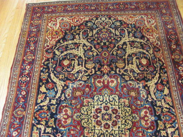 25101 antique persian kashan rug 4,1 x 6,5-1