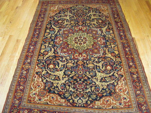 25101 antique persian kashan rug 4,1 x 6,5