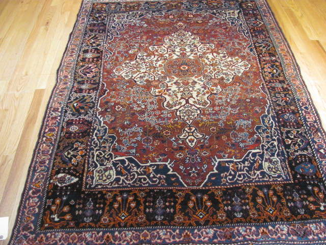 25102 antique persian qashqai rug 4,7 x 6,3
