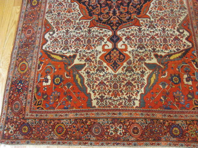 25104 antique persian sarouk fereghan rug 4 x 6,4-1