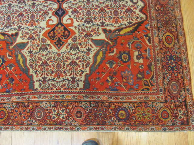 25104 antique persian sarouk fereghan rug 4 x 6,4-2