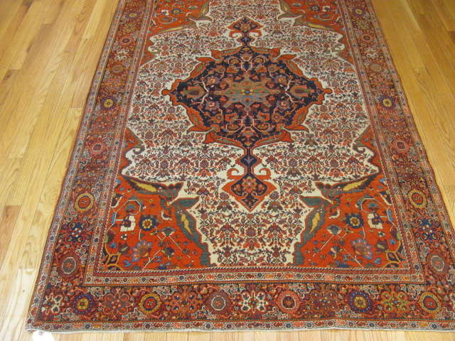 25104 antique persian sarouk fereghan rug 4 x 6,4