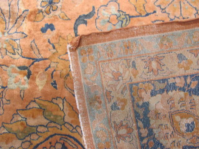 25113 Antique Indian rug 10 x 14-3