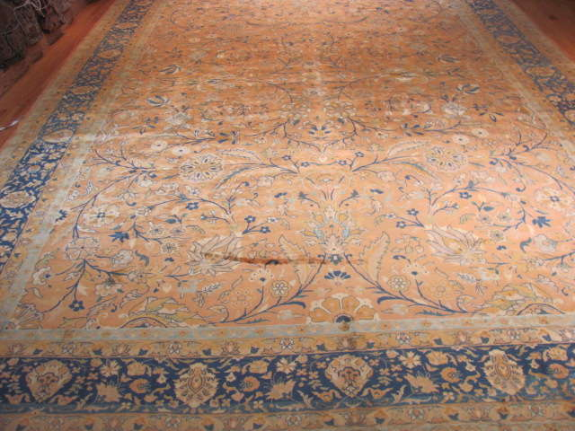 25113 Antique Indian rug 10 x 14