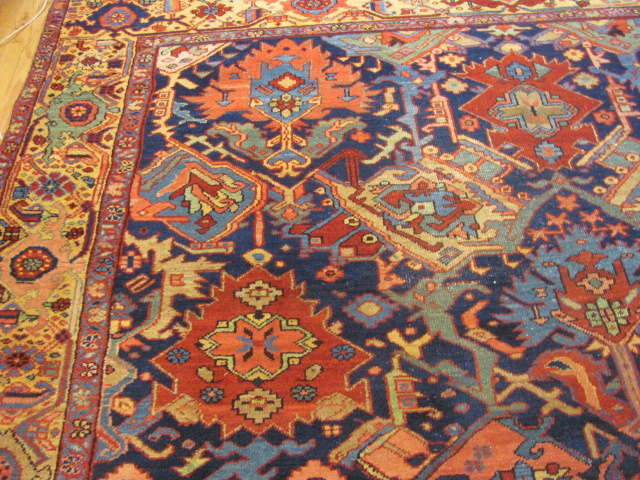 25116 Antique Persian Heriz rug 9,8 x 12,5-1