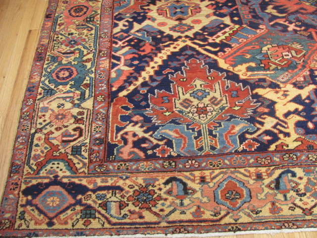 25116 Antique Persian Heriz rug 9,8 x 12,5-2