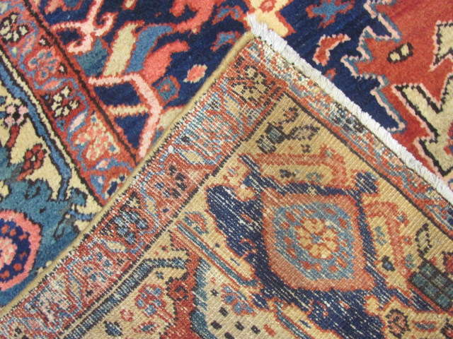 25116 Antique Persian Heriz rug 9,8 x 12,5-3