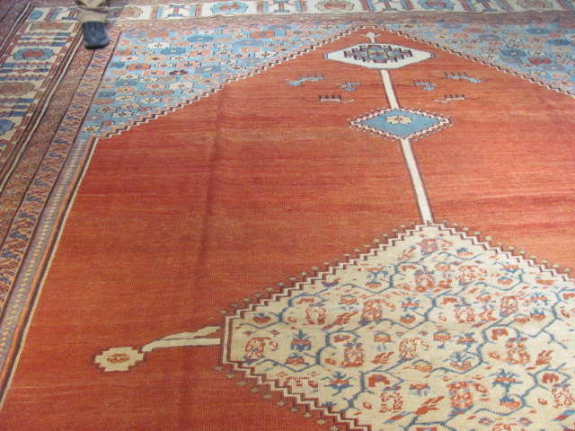 25118 Antique Persian Bakshaish rug 11,6 x 14,6-1