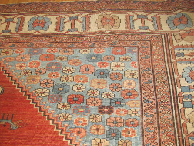 25118 Antique Persian Bakshaish rug 11,6 x 14,6-2