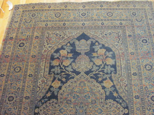 25126 Antique Persian Tabriz 4,2 x 6-1
