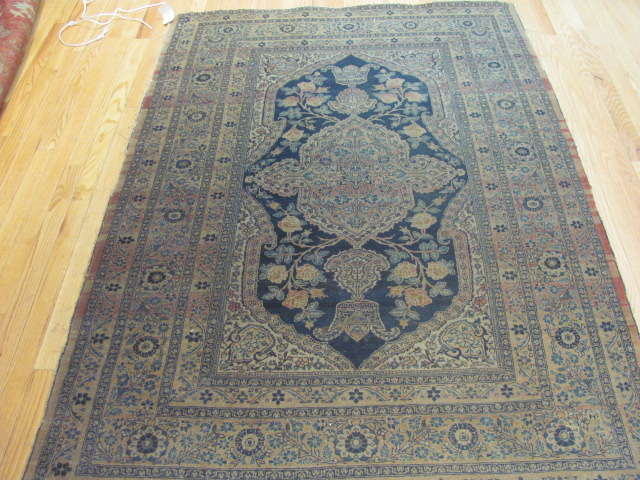 25126 Antique Persian Tabriz 4,2 x 6
