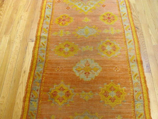 25129 Antique Anatolian Oushak hall runner 2,8 x 14,8-1