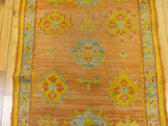 25129 Antique Anatolian Oushak hall runner 2,8 x 14,8-2