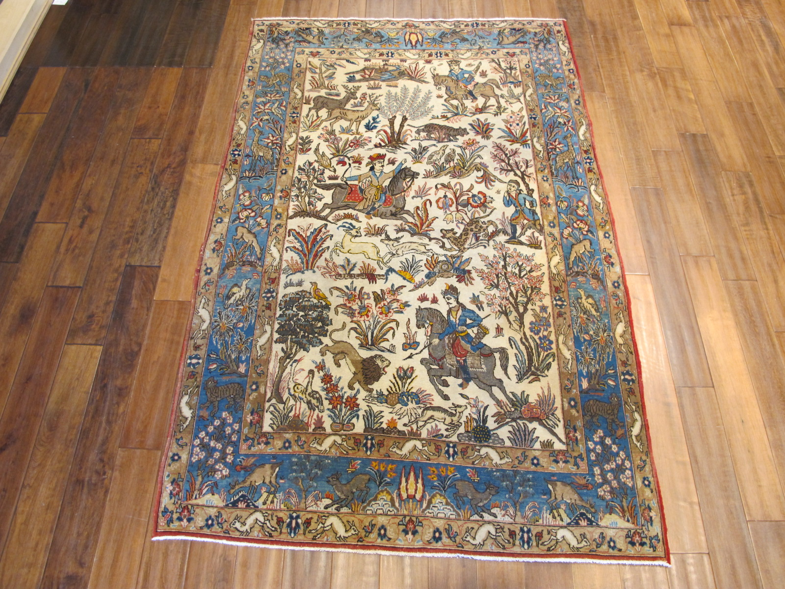 13123-persian-quom-hunting-rug-49-x-74-1