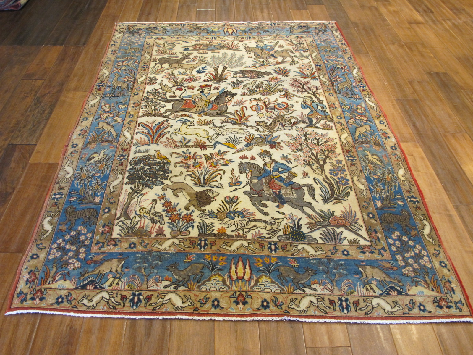 13123-persian-quom-hunting-rug-49-x-74-3